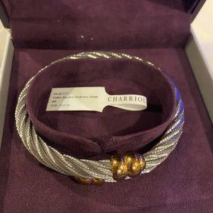 Authentic steel Charriol bracelet